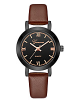 cheap -Geneva Women's Wrist Watch Quartz New Design Casual Watch Cool Leather Band Analog Casual Fashion Black / Brown - Black / Brown Gold / White Brown / Gold One Year Battery Life