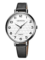 cheap -Geneva Women's Wrist Watch Quartz New Design Casual Watch Cool Leather Band Analog Casual Fashion Black / Brown - Gold / Brown Black / White White / Brown One Year Battery Life