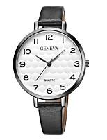 Недорогие -Geneva Жен. Наручные часы Китайский Новый дизайн / Повседневные часы / Cool Кожа Группа На каждый день / Мода Черный / Коричневый / Один год