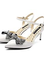 abordables -Femme Chaussures Cuir Nappa Printemps Confort Chaussures à Talons Talon Aiguille Noir / Beige