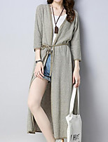 cheap -Women's Long Sleeve Cotton Cardigan - Solid Colored