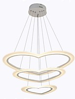 cheap -Oulm 3-Light Circular / Mini Chandelier Ambient Light - Dimmable, 110-120V / 220-240V, Dimmable With Remote Control, LED Light Source Included