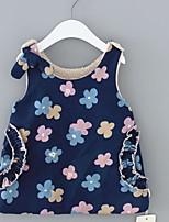 Недорогие -малыш Девочки Цветочный принт Без рукавов Платье