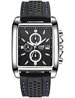 baratos -BOSCK Homens Relógio de Pulso Chinês Calendário / Impermeável / Novo Design Silicone Banda Luxo / Fashion Preta