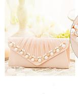cheap -Women's Bags Polyester Clutch Pom-pom Blushing Pink / Gray / Almond