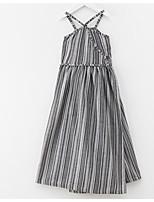 Недорогие -Дети Девочки Винтаж Однотонный Без рукавов Платье