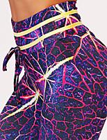 baratos -Mulheres Para Noite Esportivo Legging - Galáxia / Estampa Colorida Cintura Alta