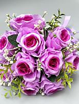 """baratos -Bouquets de Noiva Buquês Casamento / Ocasião Especial Poliéster 6.69""""(Aprox.17cm)"""
