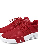 cheap -Men's Light Soles Knit / Mesh Summer Comfort Sneakers White / Black / Red