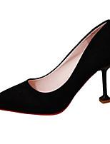 Недорогие -Жен. Обувь Полиуретан Лето Туфли лодочки Обувь на каблуках На шпильке Заостренный носок Черный / Серый / Розовый
