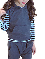 Недорогие -Дети (1-4 лет) Девочки Однотонный Без рукавов / Длинный рукав Набор одежды