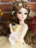 Недорогие -Doris Кукла с шаром / Блайт Кукла Девочки 24 дюймовый Полный силикон для тела - Высокотемпературные резистивные парики Детские Подарок
