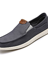 cheap -Men's Canvas / Denim Fall Comfort Loafers & Slip-Ons Dark Blue / Gray / Khaki
