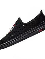 Недорогие -Муж. Сетка Лето Удобная обувь Мокасины и Свитер Черный / Серый