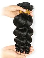 economico -Peruviano Onda sciolta Abiti Cosplay / Accessori per capelli / Ciocche a onde capelli veri 6 pacchi 8-28 pollice Tessiture capelli umani Migliore qualità / Molto spesso / Comodo Nero Naturale