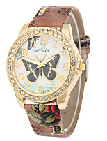 cheap -Women's Wrist Watch Chinese Casual Watch PU Band Butterfly / Fashion Black / White / Blue