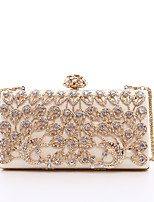 cheap -Women's Bags PU(Polyurethane) Evening Bag Crystals / Hollow-out Black / Blushing Pink / Silver
