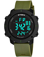 cheap -SYNOKE Men's Sport Watch / Digital Watch Calendar / date / day / Chronograph / Water Resistant / Water Proof PU Band Fashion Black / Green / Grey / Stopwatch / Noctilucent