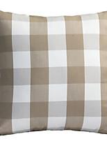 Недорогие -1 штук Полиэстер Наволочка, Геометрический принт / В клетку С узором / Современный