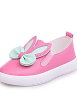 cheap -Girls' Shoes PU(Polyurethane) Spring & Summer Comfort Loafers & Slip-Ons Walking Shoes for Kids White / Fuchsia / Pink