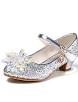 Недорогие -Девочки Обувь Синтетика Весна & осень Детская праздничная обувь / Крошечные Каблуки для подростков Обувь на каблуках для Серебряный