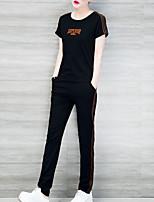 economico -Per donna Set A strisce / Monocolore / Alfabetico Pantalone