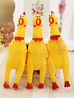 Недорогие -Интерактивный / Игрушки с писком Курица и цыпленок / обожаемый Ластик Назначение Собаки / Кролики / Коты