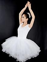 abordables -Danse classique Robes Femme Utilisation Tulle Ruché Sans Manches Robe