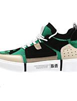cheap -Men's Pigskin Spring & Summer Comfort Sneakers Gray / Green / Blue