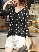cheap -Women's Basic Cardigan - Polka Dot