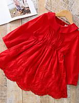 economico -Bambino / Bambino (1-4 anni) Da ragazza Tinta unita Manica lunga Vestito