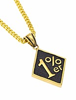 preiswerte -Herrn Kubanischer Link Anhängerketten / Ketten - Kreativ, Zahl Einzigartiges Design, Europäisch, Hip-Hop Gold 70 cm Modische Halsketten 1pc Für Geschenk, Strasse
