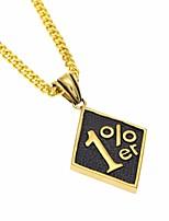cheap -Men's Cuban Link Pendant Necklace / Chain Necklace - Creative, Number Unique Design, European, Hip-Hop Cool Gold 70 cm Necklace Jewelry 1pc For Gift, Street