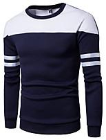 cheap -Men's Active / Basic Sweatshirt - Striped / Color Block