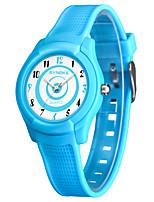 Недорогие -SYNOKE Муж. / Жен. Спортивные часы / электронные часы Японский Защита от влаги / Очаровательный PU Группа Мода Черный / Белый / Синий