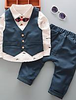 Недорогие -малыш Мальчики Шахматка Длинный рукав Набор одежды