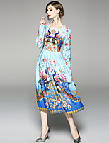 cheap -SHIHUATANG Women's Boho / Street chic A Line / Swing Dress - Floral Print