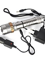 cheap -LED Flashlights / Torch LED 2000 lm 1 Mode Portable / Professional Camping / Hiking / Caving Silver