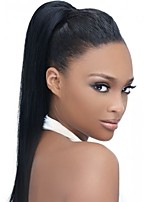 cheap -Virgin Human Hair 360 Frontal Wig Brazilian Hair Yaki Straight Wig With Ponytail 150% With Baby Hair / Women / Hot Sale Natural Women's Long Human Hair Lace Wig