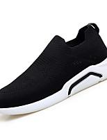 cheap -Men's Mesh / Elastic Fabric Fall Comfort Sneakers Black / Gray