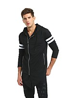 cheap -Men's Active / Exaggerated Hoodie - Solid Colored