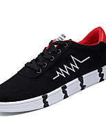 cheap -Men's Canvas Fall Comfort Sneakers Color Block Blue / Black / White / Black / Red