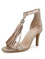 cheap -Women's Shoes Suede Spring & Summer Comfort Heels Stiletto Heel Gold / Silver