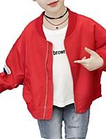 cheap -Kids Girls' Striped Long Sleeve Jacket & Coat