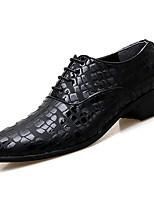 Недорогие -Муж. Микроволокно Осень Удобная обувь Туфли на шнуровке Для прогулок Белый / Черный