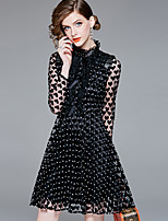 cheap -YHSP Women's Street chic / Sophisticated A Line / Sheath Dress - Polka Dot Mesh
