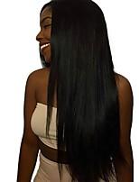 Недорогие -4 Связки Бирманские волосы Прямой Необработанные / Натуральные волосы Подарки / Косплей Костюмы / Человека ткет Волосы 8-28 дюймовый Ткет человеческих волос