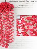 Недорогие -Искусственные Цветы 1 Филиал С креплением на стену Сценический реквизит / Модерн Гортензии Цветы на стену