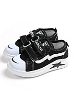 cheap -Girls' Shoes Canvas Spring & Summer Comfort Sneakers Walking Shoes Buckle for Kids Black / Pink