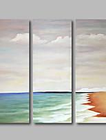 abordables -Pintura al óleo pintada a colgar Pintada a mano - Paisaje Contemporáneo Lona